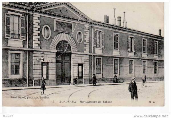 La manufacture des tabacs de Bordeaux, autour de 1870, lorsqu'a eu lieu l'accident qui couta une jambe à Agnès Blanco