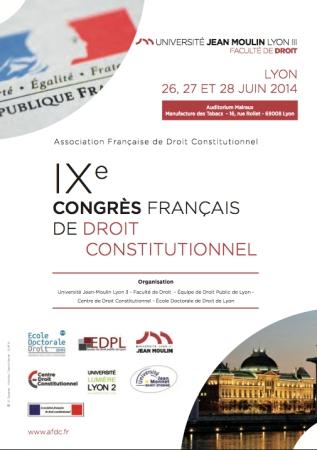 2014-06-26 - AFDC - 9e Congres Francais de Droit Constitutionnel - Affiche