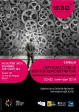 2014-11-20 - UBO - Efficacite de la justice administrative - Affiche
