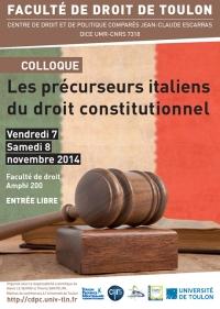 2014-11-07 - CDPC - Les precurseurs italiens du droit constitutionnel - Affiche