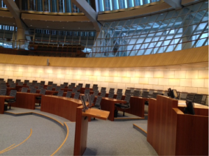 Une salle du parlement régional de Dusseldorf